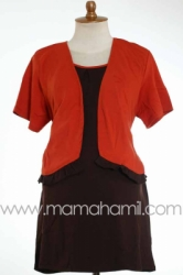 baju menyusui bolero pendek orange   SD 181  large